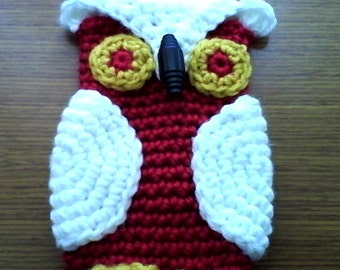 Crochet Owl Cell Phone Cozy