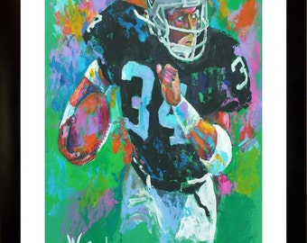 70% SALE - Bo Jackson Real-Art LIMITED Edition Paper Print From an Original Hand-Painted (Not DIGITAL/Computer) Artwork By Winford