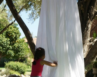 Play canopy in white cotton/ hanging tent/ hanging canopy