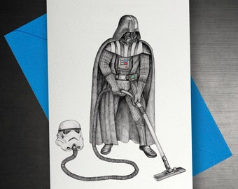 Darth Vader Hoovering Card