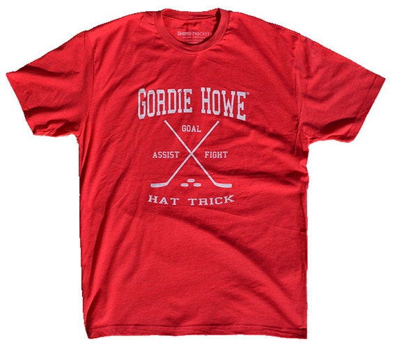 Hockey Shirt -- Gordie Howe Hat Trick -- Hockey T Shirt -- Officially Licensed