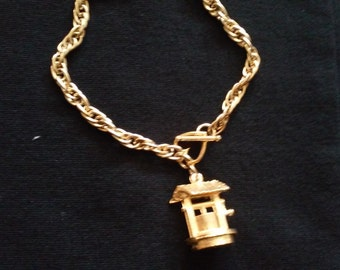 Wishing Well Charm and  Chain FREE SHIPPING