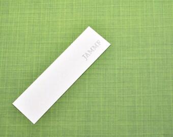 Outlander JAMMF Bookmark, Hand Stamped Paper Bookmark