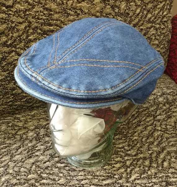 Vintage Denim unisex  Flat Cap made by BOYS