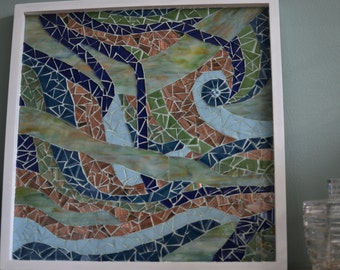 Copper, Green, and Blue Mosaic