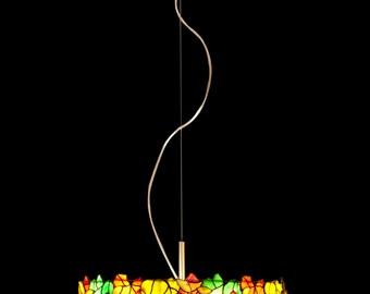Tiffany leaf pendant lamp