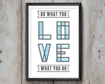 Love Quote Typography Print, Love Poster, Inspirational Quote Poster, Love Wall Art, Love Quote, Love Print, Love Quote Print, Wall Art