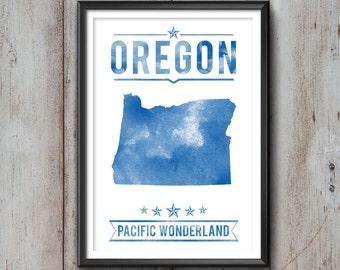 OREGON State Typography Print, Typography Poster, Oregon Poster, Oregon Art, Oregon Gift, Oregon Decor, Oregon Love, Oregon Print, Oregon
