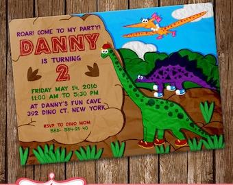 Dinosaurs Invitation Dinosaurs Card Party Invitation Birthday Card LL-0168