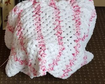 Pink Baby Blanket, Crochet Baby Blanket, Bassinet cover, Newborn baby blanket, Breathable blanket, Baby Girl Blanket, Crochet Baby Afghan