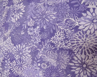 "108"" purple floral Backing fabric. 108 inch wide cotton quilt quilting sheeting Classic Cottons"