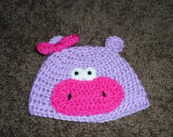 Crochered Hippo Hat