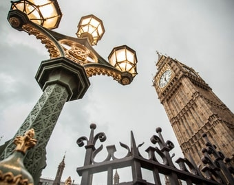Big Ben Photograph, Color Print, London Photography, England Photo, Parliament Picture, Landmark, Europe