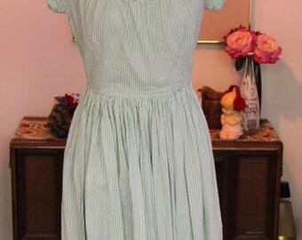 1950s Cotton Comfortable Dress