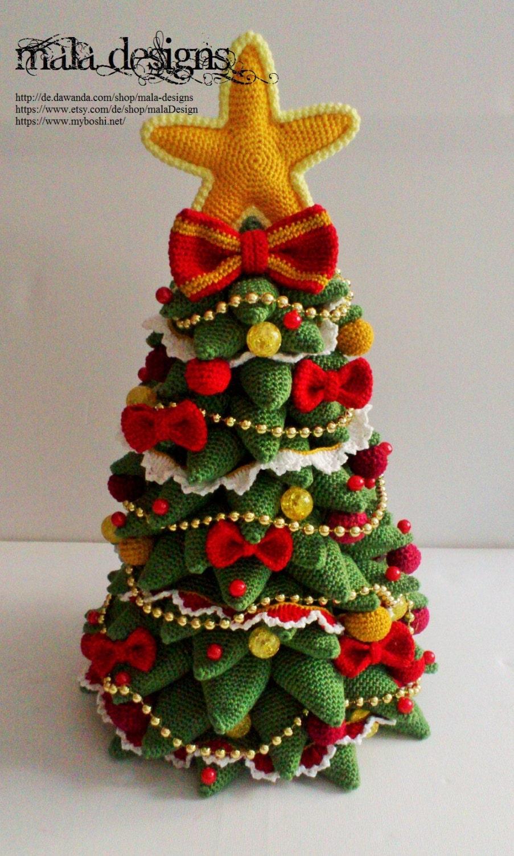 christmas tree crochet pattern by mala designs