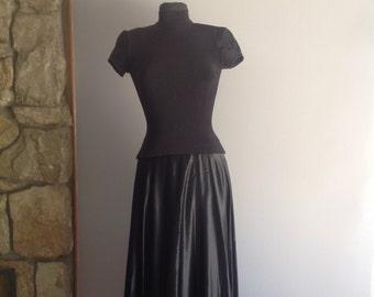 Tadashi Shoji Black Formal Evening Gown / satin gown/ evening gown