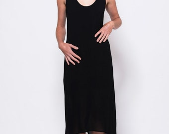 Long black tunic dress