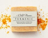 Turmeric Soap // Handmade with All Natural Herbal Ingredients // Traditional Cold Process // Unscented Vegan Soap
