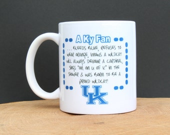 On Sale - UK Big Blue mug KY fan - KY wildcats - kentucky basketball - unique - personalized - magnet - christmas gift - coffee lover