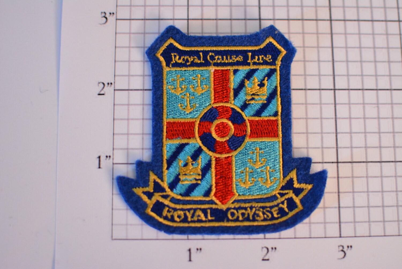 Royal Cruise Line SewOn Vintage Travel Patch Royal Odyssey - Royal odyssey cruise ship