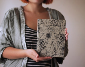 Travel Book, Map Notebook, cloth journal