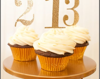 Number Cupcake Toppers - set of 12