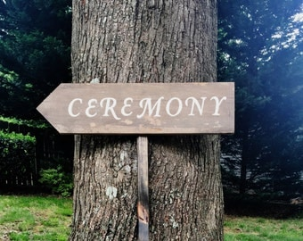 Ceremony Sign Wedding, Wooden Wedding Sign, Wood Signs, Wooden Signs, Rustic Wedding Sign, Wedding Arrow Sign, Wood Wedding Sign, Arrow Sign