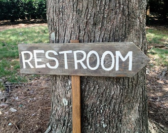 Restroom Sign Wedding, Wooden Wedding Signs, Wooden Arrow Sign, Rustic Wood Signs, Wedding Arrow Sign, Restroom Sign, Rustic Wedding Signs