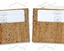 Cork card holder, vegan card holder, wallet