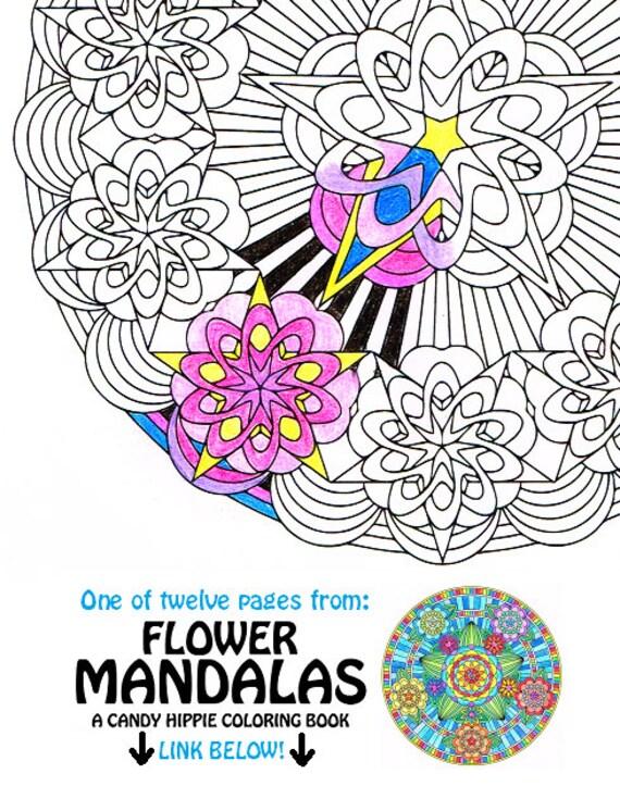 Arte de línea de la página para colorear flor Glam Mandala