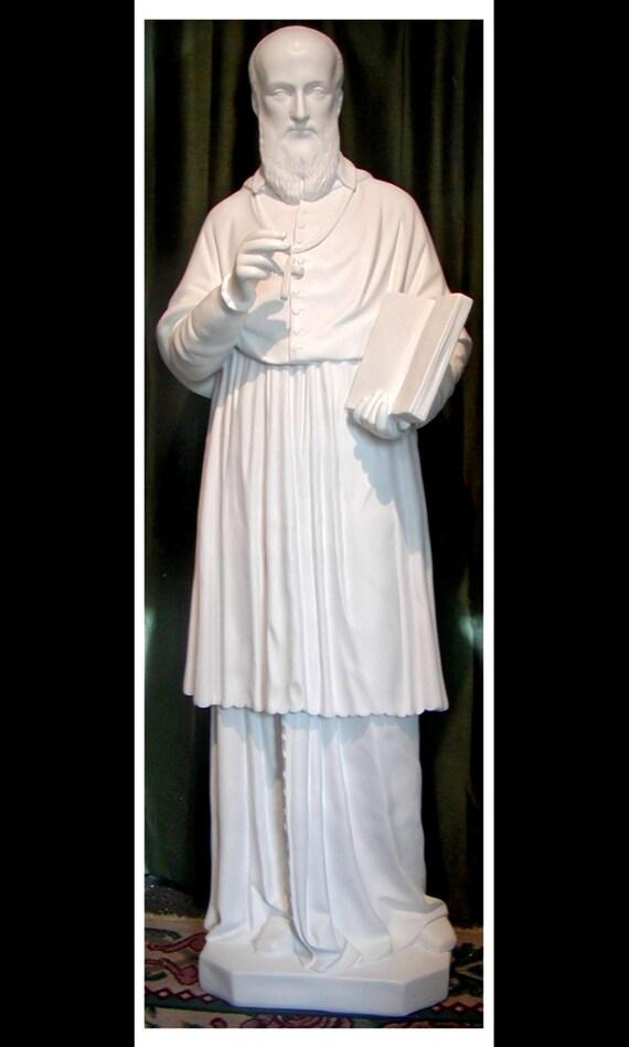 "St. Francis De Sales 60"" Fiberglass Catholic Christian Religious Statue"