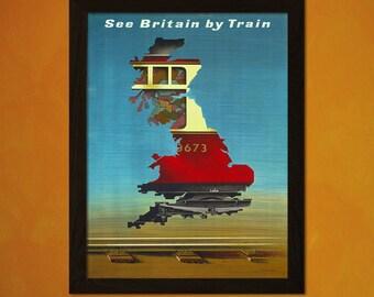Britain Travel Poster 1951 - Vintage Travel Print Retro Wall Decor Travel British Print Britain Poster Gift   Smt