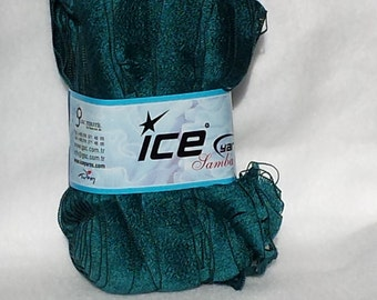 Ruffle Scarf Yarn - Dark Green