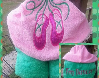 Dance Hooded Towel with FREE Embroidered Name