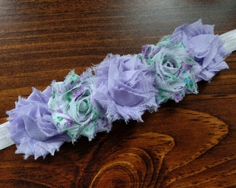Purple and Lavender Floral Flower Crown Headband
