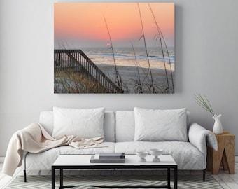 Dreamy Beach Photo - Pink - Beach Photography - Sunrise Print