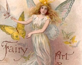 Vinatge Fairy Angel Digital Download Digital Image Clip Art 300dpi