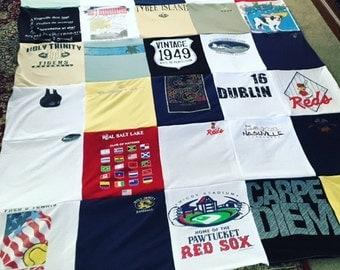 FREE SHIPPING!!!!! T-Shirt Memory Quilt