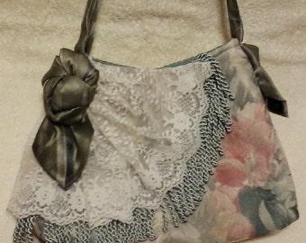 Romantic Tapestry Shoulder Bag, Purse, Handbag; Boho; Shabby Chic