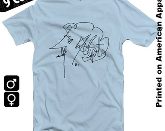 Kurt Vonnegut American Apparel T-shirt S-XXL Balzac, Candid, Satire, Satirical, Philosophy, Philosopher, Slaughterhouse 5, Breakfast , Cool