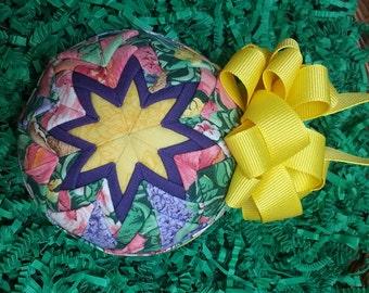 "Easter Handmade Quilted Keepsake Ornament - ""Eggactly!"""