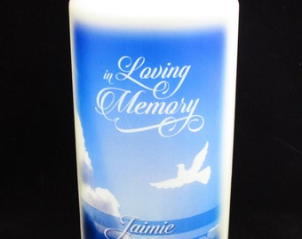 In Loving Memory Personalized Wax Candle