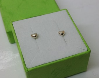 Heart Stud Earrings 925 Silver KO126