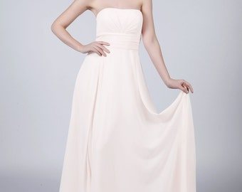 White Multiway Long Bridesmaid/Prom Dress by Matchimony