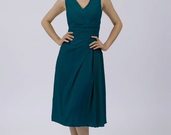 Teal Classic Short Bridesmaid/Prom Dress by Matchimony