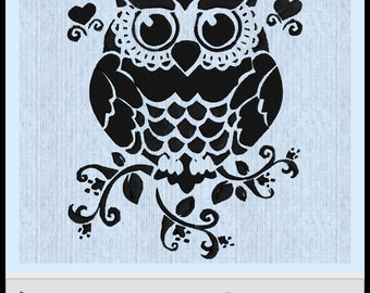 Owl Embroidery Design fits 200mm x 200 mm hoop