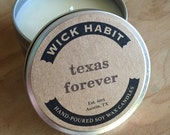 Texas Forever Soy Candle  // Leather, Grass, Tobacco, Spice