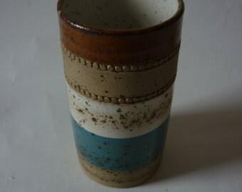 Denby 'Potter's Wheel' Range Vase. Designed by David Yorath 1973.