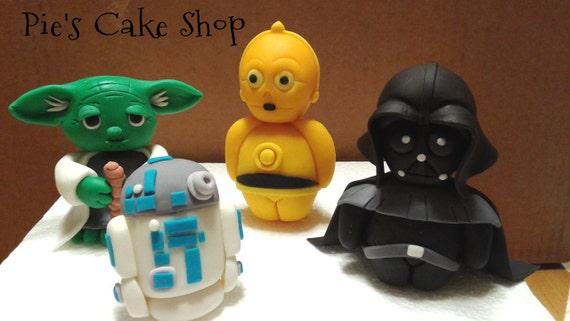 Star Wars Birthday Party Fondant Cake Toppers | Birthday Wikii