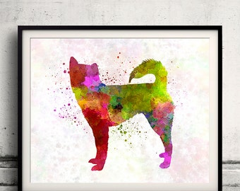 Kai 01 in watercolor - Fine Art Print Poster Decor Home Watercolor Illustration Dog - SKU 1631